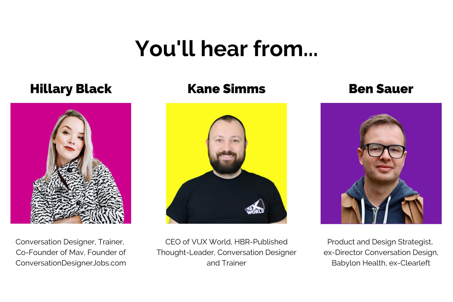 Hillary Black, Kane Simms and Ben Sauer