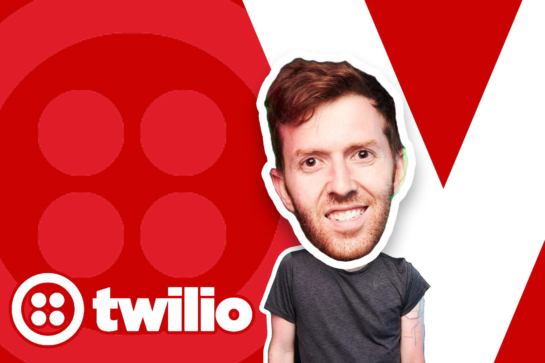 Twilio website hero