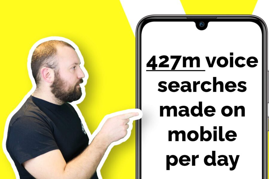 427m voice searches are done on mobile per day