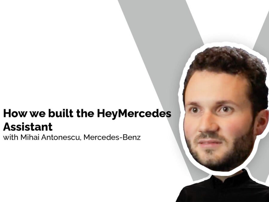Mihai Antonescu discussing the HeyMercedes voice assistant on VUX World Live